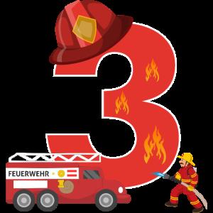 3 Dritter Geburtstag Feuerwehr Feuerwehrmann