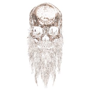 Wikinger Vikings Skull Schädel Vegvisir Bart