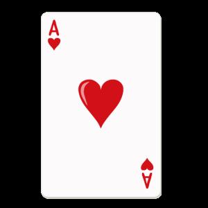 Herz Ass Karte