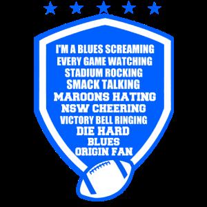 Blauer Fußball