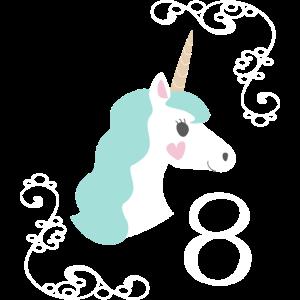 Geburtstag 8 Einhorn
