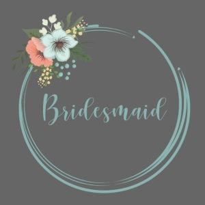Bridesmaid - floral motif in blue