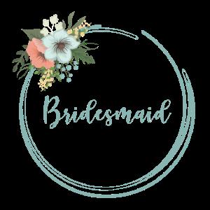 Bridesmaid - florales Motiv in blau