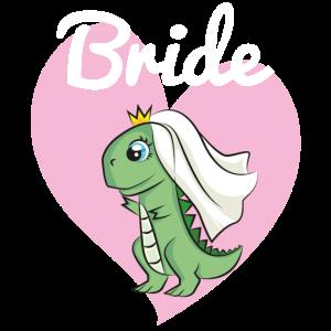 Braut Bride to be JGA Dino Dinosaurier Geschenk