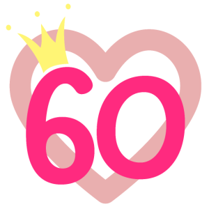 60. Geburtstag Prinzessin Krone Nummer sechzig