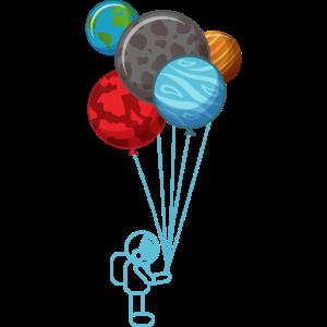 ASTRONAUT BALLON PLANET Weltraum Geschenk