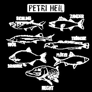 Petri Heil Angeln FIsche Süßwasserfische