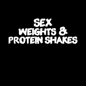 Sex Gewichte und Protein Shakes