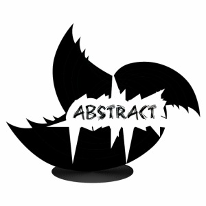 Black Abstract Bird
