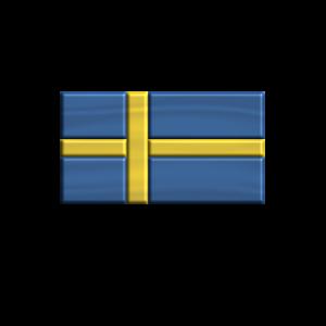 Schweden Flagge 3 D