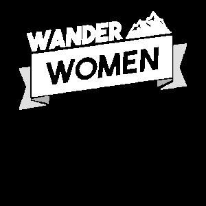 Wander Woman Wanderer Bergmensch Hiking Geschenk