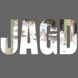 """""""JAGD""""-Shirt für Jäger/innen, Motiv Winterjagd"""