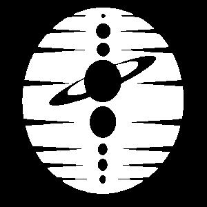Planeten in einer Reihe