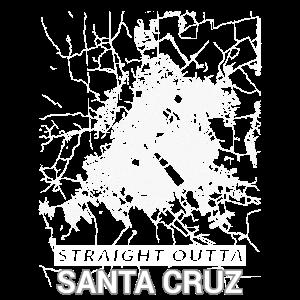 Straight Outta Santa Cruz Stadtplan und Straßen