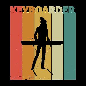 T-Shirt für Keyboarder Musiker Klavier Geschenk