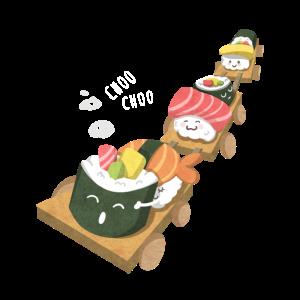 Sushi-Zug-Liebhaber-Geschenk, Sushi-Illustrations-Design