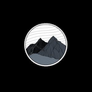 Berglandschaft in Grautönen