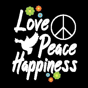 Hippi Peace Love Blumen Geschenk Freude