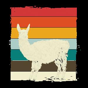 Vintage Lama Lustiges Motiv Lama Geschenk