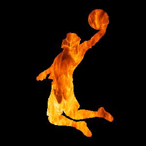 Basketball Feuer Silhouette
