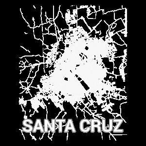 Santa Cruz Stadtplan und Straßen