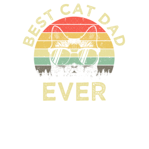 Best Cat Dad Ever Retro Vintage Katzen Motiv Papa