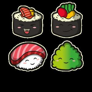 Japan Otaku Anime Sushi Kawaii Geschenk