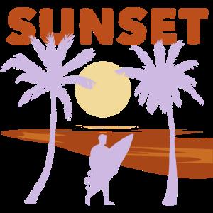 Sunset Surfen Reisen