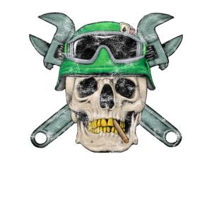 Skull Commando Totenkopf Mechaniker Skelett