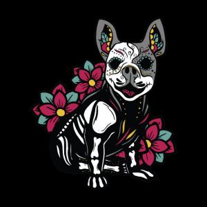Sugar Skull Hund mexikanischer Tag der Toten Stil