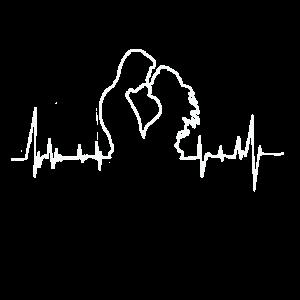 Valentinstag Paar Liebe heartbeat