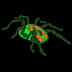 Computer Spinne Gamer Zocker PC Gaming Informatik
