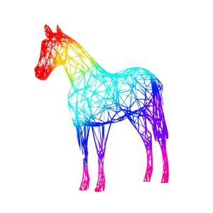 Pferd bunt Regenbogen Einhorn Farbig