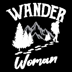 WANDER WOMAN Wandern Trekking Retro Geschenk