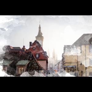 Malerisch Würzburg Rathaus