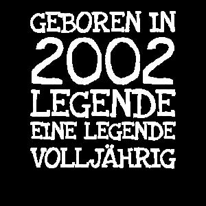 Geboren In 2002 Legende Eine Legende Volljährig