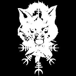 Wolf Nordisch Symbol Zeichen Wikinger Runen