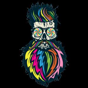 Schädel Hipster Schädel Schädel Fantasie Punk