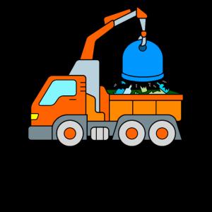 Altglas Recycling Fahrzeug LKW