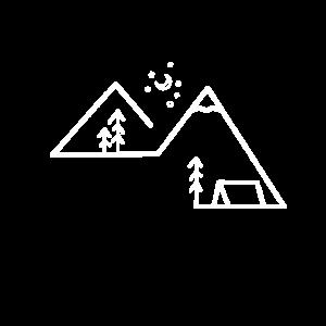 Berge Linien Geschenk Idee