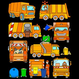 Müllabfuhr Fahrzeuge
