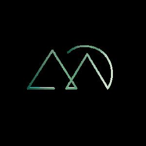 Zwei Berge mit Sonnenuntergang Geschenk Idee