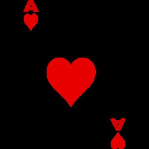 Spielkarte Kartenspiel Karte ASS Herz Skat Poker