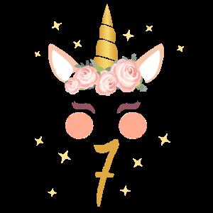 Geburtstagsshirt 7.Geburtstag Einhorn Geschenk