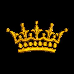 gestickte Krone
