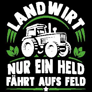 Landwirt nur ein held fährt aufs Feld