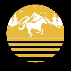Reiterin Reiter Reitsport Gold Landschaft