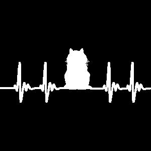 Katze Herzschlag Perserkatze Geschenkidee