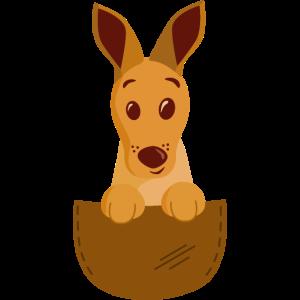 Känguru im Beutel