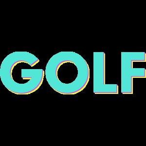 Golf 80s 90s Golfspieler Golfschläger Golfball